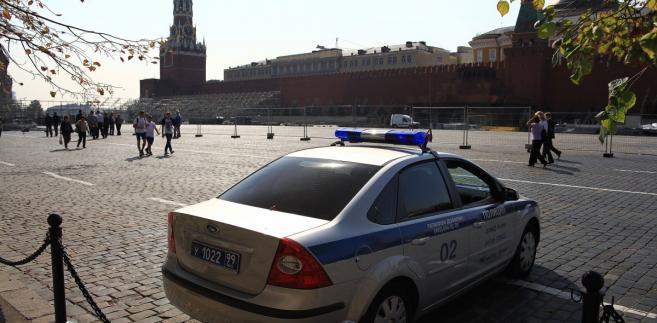 Rosja policja Moskwa Plac Czerwony