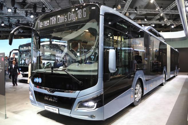 Napędzany gazem autobus MAN Lions City