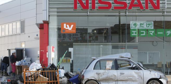 Zakład Nissana po trzęsieniu ziemi w Japonii