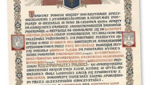 Traktat pokojowy podpisany po III powstaniu śląskim, 1922 r. fot. AAN