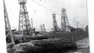 """Kopalnia nafty """"Minerwa"""" w Harklowej fot. NAC"""