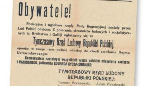 Afisz informujący o sformowaniu w Lublinie Tymczasowego Rządu Ludowego Republiki Polskiej fot. mat. prasowe