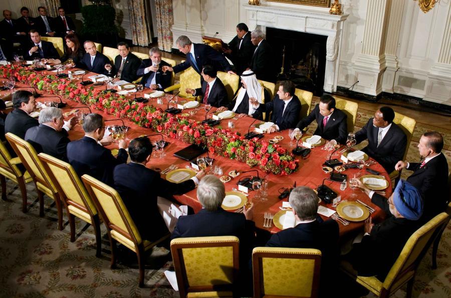 Wspólna kolacja rozpoczynająca Szczyt G20 w Waszyngtonie