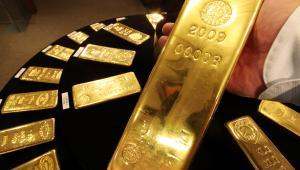 Sztabki złota.