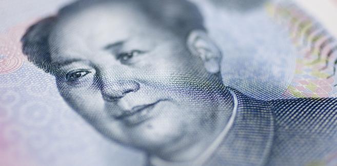 Mao Zedong widoczny na chińskim banknocie o nominale 10 juanów.