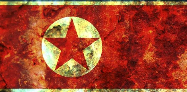 Flaga Korei Północnej, fot. Michal Baranski
