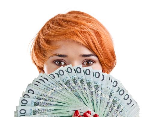 pieniądze, kobieta