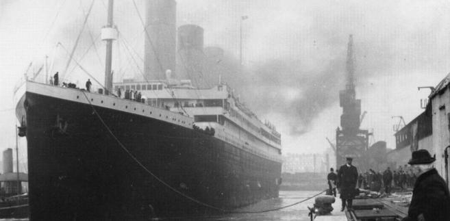 Titanic w porcie w Southampton w Anglii
