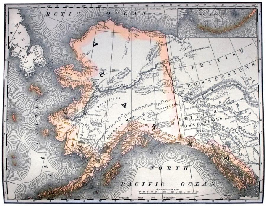 Mapa Alaski